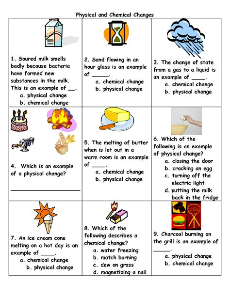 physical to chemical changes physical and chemical change exles kids pinterest