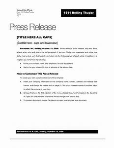 rolling thunder press release template With event press release template word