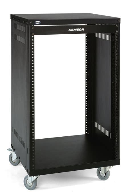 samson srk  heavy duty steel  rack case including castors