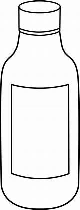 Bottle Clipart Clip Milk Template Coloring Water Bottles Medicine Empty Sketch Colouring Outline Cliparts Medical Library sketch template