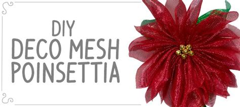 diy deco mesh poinsettia craft outlet inspiration