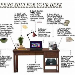 Feng Shui Arbeitszimmer : feng shui your desk illustration of feng shui rules basics pinterest b ros ~ Frokenaadalensverden.com Haus und Dekorationen