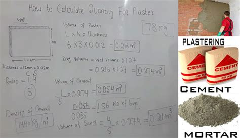 method  measurement  plastering calculate quantity