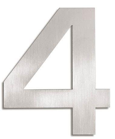 House Number Signs: Modern House Numbers   4: NOVA68.com