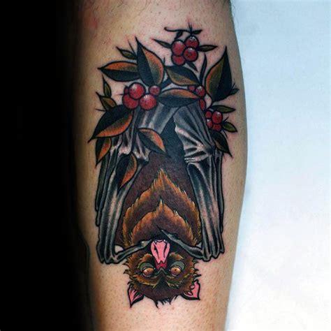neo traditional bat tattoo designs  men unique ideas
