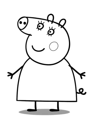 mummy pig coloring page  printable coloring pages