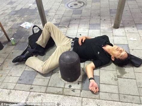 Drunk Japanese Businessmen Caught Legless On Metro Daily