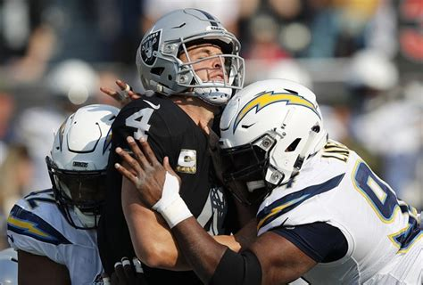 los angeles chargers beat  oakland raiders  sixth