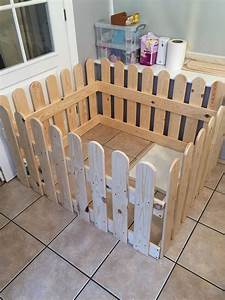 wooden puppy dog pen made from old pallets projects With wooden indoor dog pen