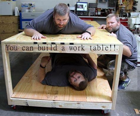 easy  plywood rolling work table diy