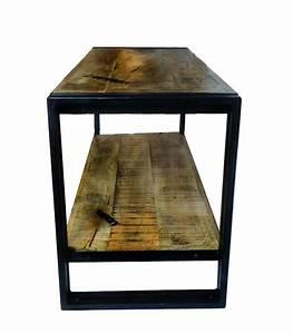 étagère Basse Bois : tag re basse en bois style industriel flexo 102cm ~ Teatrodelosmanantiales.com Idées de Décoration