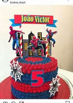 amazing cake at a spiderman birthday party see more party planning ideas at catchmyparty com