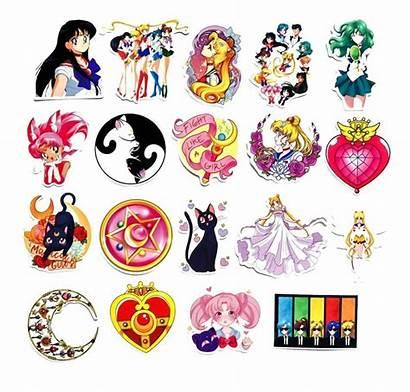 Moon Sailor Stickers Luna Genial