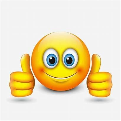 Emoji Smiley Emoticon Omhoog Illustrazione Duimen Upp