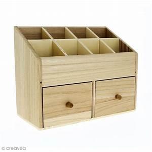Boite En Bois : bo te en bois 24 x 12 cm 10 rangements boite en bois d corer creavea ~ Teatrodelosmanantiales.com Idées de Décoration