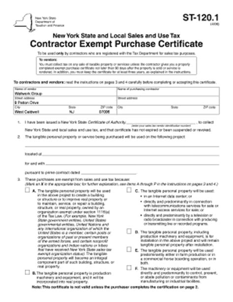 st contractor exempt purchase certificate fill