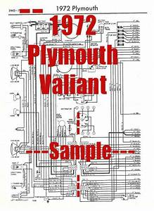 1972 Plymouth Valiant Full Car Wiring Diagram  High