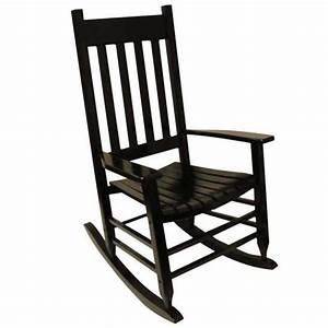 Shop Garden Treasures One Painted Black Wood Slat Seat