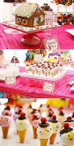 Deco Bonbon Anniversaire : un anniversaire candy land if someday i 39 ll have to organize a party for a girl who knows ~ Melissatoandfro.com Idées de Décoration