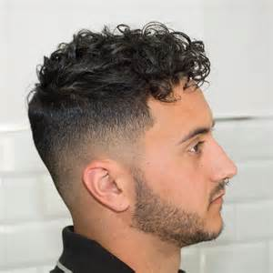 Fade Haircut Men Curly Hairstyles