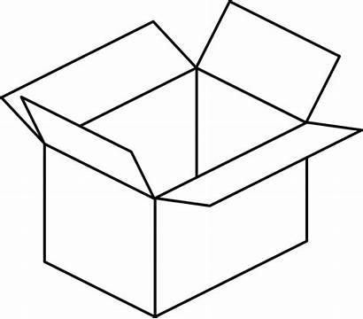 Box Open Carton Clip Clker Clipart Domain