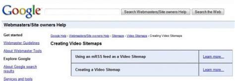 Video Sitemaps For Google Mrss Xml
