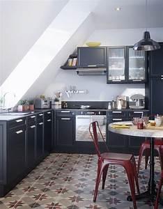 Carreaux De Ciment Castorama : la cuisine rouge comme vous ne l avez jamais vue elle ~ Melissatoandfro.com Idées de Décoration