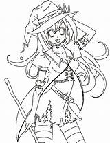 Coloring Anime Halloween Pages Colouring Sheet Drawings Template Google Templates Pdf Sky sketch template