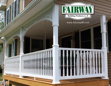 pin  molly curtis  balcony vinyl railing front porch makeover porch makeover