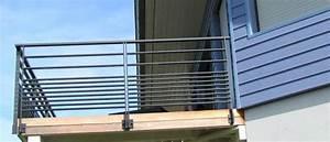 Garde Corps Terrasse Aluminium : garde corps d 39 ext rieur en aluminium barreau pour balcon f ria horizal garde corps ~ Melissatoandfro.com Idées de Décoration