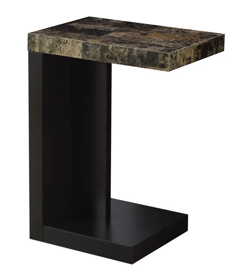 space saving end table space saving 18 w x 24 h wood accent table with faux 5632