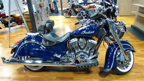 2014 Indian Chief Classic Springfield Blue Walkaround