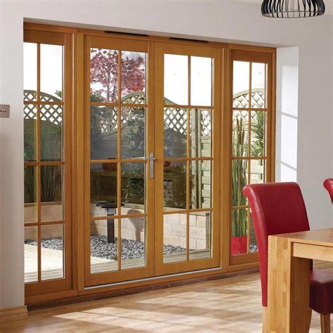 nuvu oak  pane exterior french doors  twin side