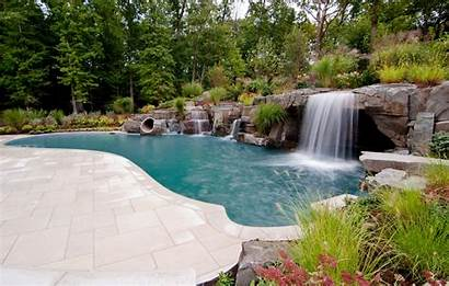 Pool Inground Nj Waterfall Waterfalls Natural River
