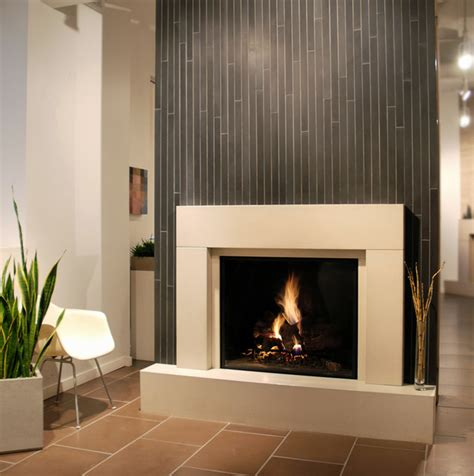 solus decor modern fireplace with offsetting color tiles