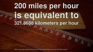 200 Mph En Kmh : 200 mph to km hr how fast is 200 miles per hour in kilometers per hour convert ~ Medecine-chirurgie-esthetiques.com Avis de Voitures