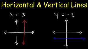 How To Graph Horizontal And Vertical Lines