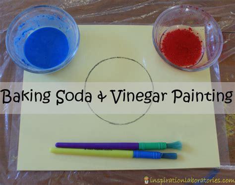 baking soda painting baking soda vinegar and soda