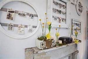 White decorating ideas picture frames for bright