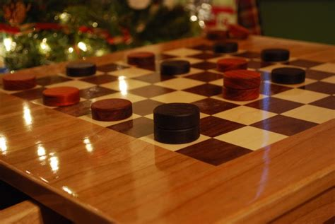 checkerboard table set larue woodworking