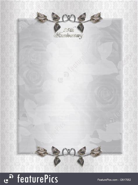 templates  silver anniversary invitation stock