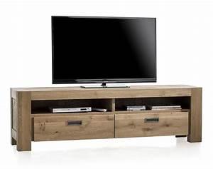 Meuble Tv 180 Cm : santorini meuble tv 2 tiroirs 2 niches 180 cm ~ Teatrodelosmanantiales.com Idées de Décoration
