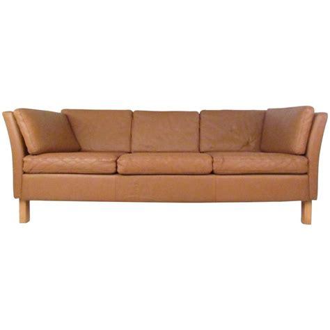 mid century leather sofa danish modern leather sofa mid century mogensen style