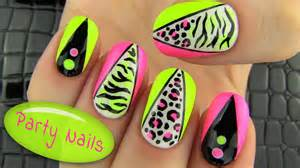 Party nails nail art collab with elleandish janelle
