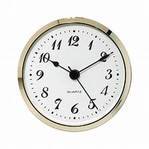 3-1/2'' Quartz Clock Insert with Arabic Numerals Rockler