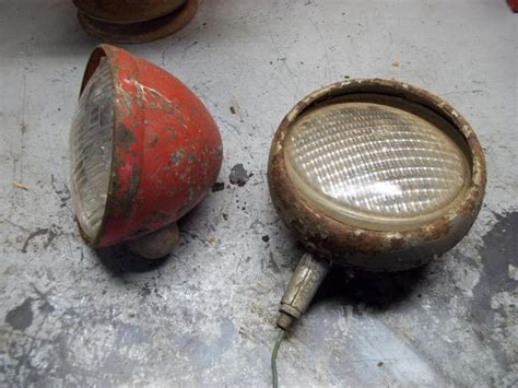 for sale antique farm tractor lights glass bulbs prince