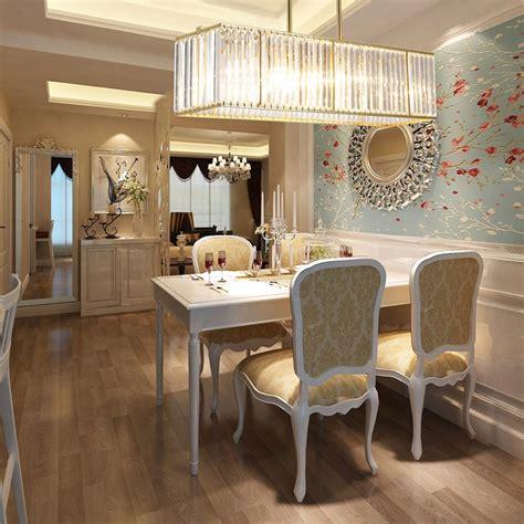 luxury modern led light rectangle crystal chandelier