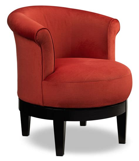Lemoore Swivel Accent Chair  Red Furnitureca