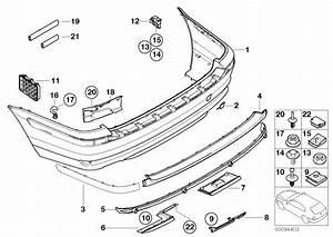 Bmw 323i Cover  Trim  Rear  Panel  Bumper  Body
