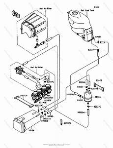 Kawasaki Motorcycle 1992 Oem Parts Diagram For Canister